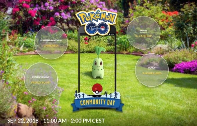 Chikorita Community Day Pokemon GO (22 września 2018)