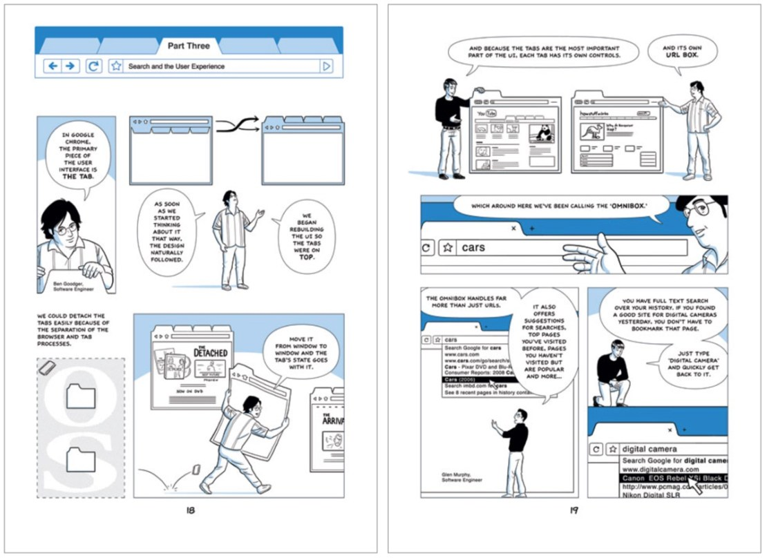 Komiks Google Chrome (2 strony) - 2008 r.