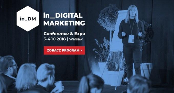 Agenda konferencji in_Digital Marketing (3-4 października 2018)