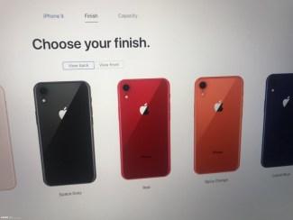 Screen rzekomej strony WWW z iPhone'em 9