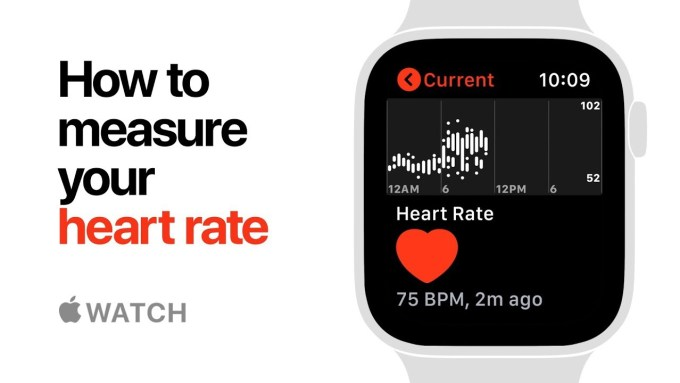 Pomiar tętna zegarkiem Apple Watch Series 4 (Heart rate)