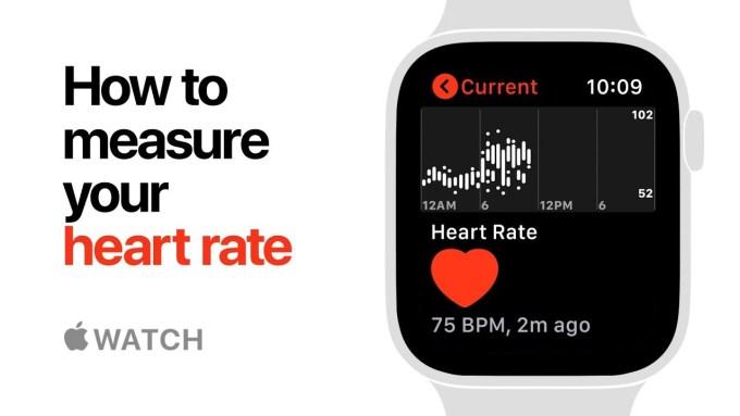 Pomiar tętna zegarkiem Apple Watch Series 4 (Heart rate)