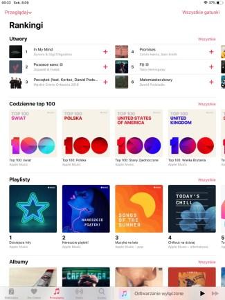 Rankingi utworów w Apple Music
