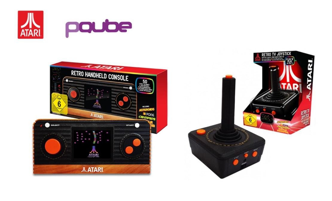Atari 'Retro' Handheld (po lewej) oraz Atari 'Retro' TV Plug and Play Joystick (po prawej)