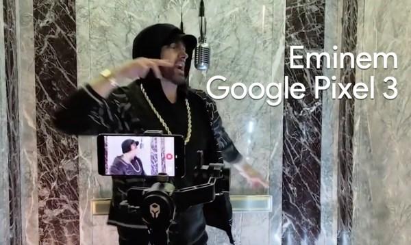 Zakulisowe wideo z występu Eminema nagrane smartfonem Google Pixel 3