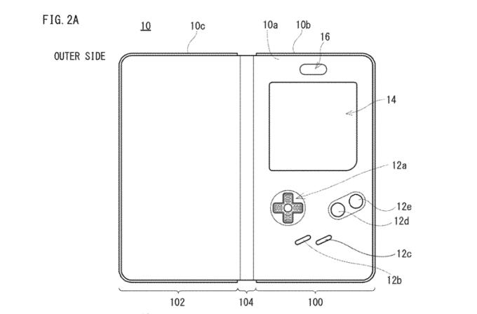 Patent obudowy zamieniającej smartfona w Game Boya (fot. Nintendo)
