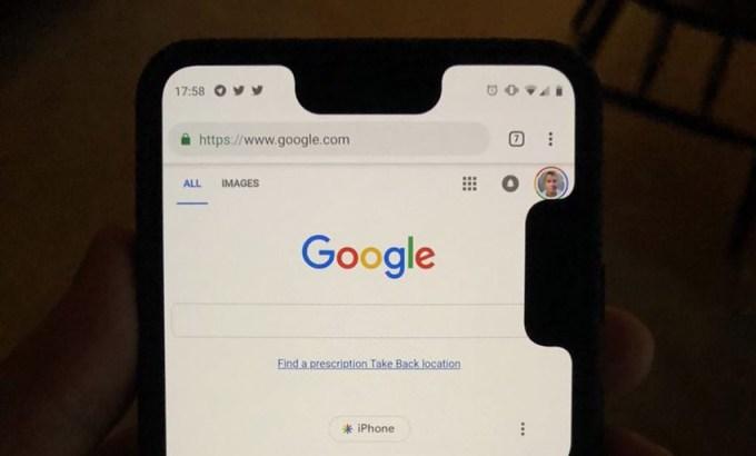 Google Pixel 3 XL z dwoma wycięciami (notchami)