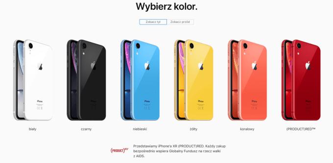 iPhone XR kolory