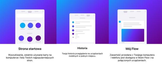 Funkcje przeglądarki Opera Touch