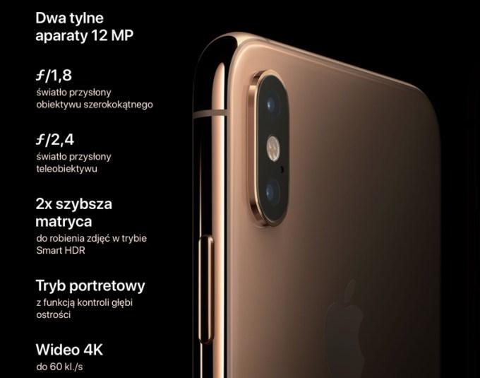 Dwa tylne aparaty (iPhone XS /XS Max)
