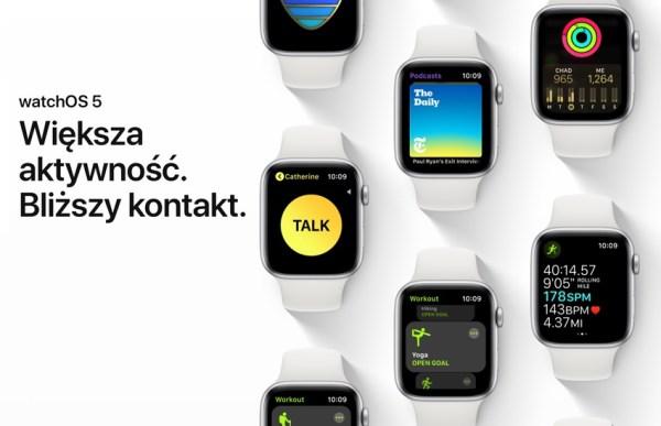 Uaktualnienie watchOS 5.1 – pełna lista nowości