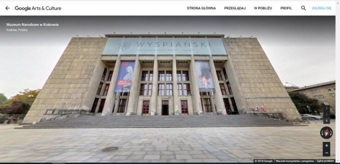 Wirtualny spacer po Muzeum Narodowym w Krakowie
