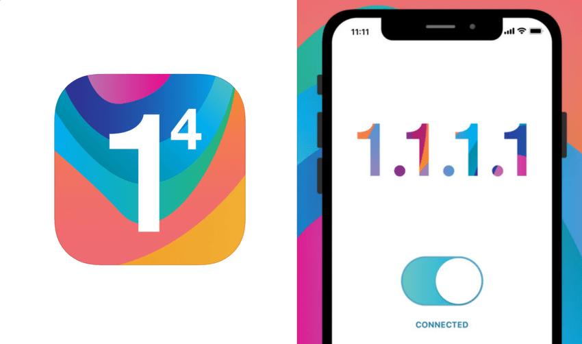 """""""1.1.1.1: Faster Internet"""" - ikona i screen aplikacji mobilnej"""