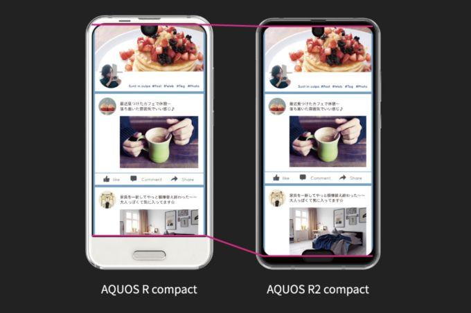 Aquos R Compact vs Aquos R2 Compact