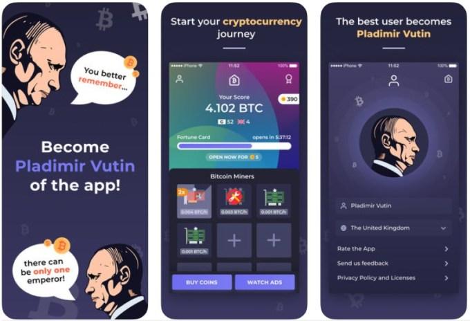Zrzuty ekranu z gry mobilnej: Bitcoin Mining - Tycoon game