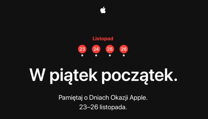 Black Friday w Apple (Cztery Dni Okazji) Czarny Piątek i Cyber Monday 2018