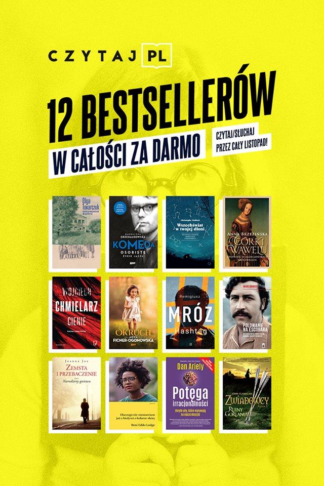 12 bestsellerów w ramach akcji Czytaj PL 2018
