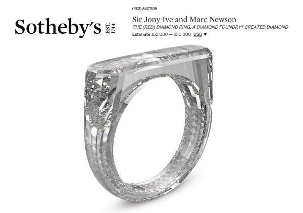 Jony Ive zaprojektował pierścionek, wykonany w całości z diamentu…