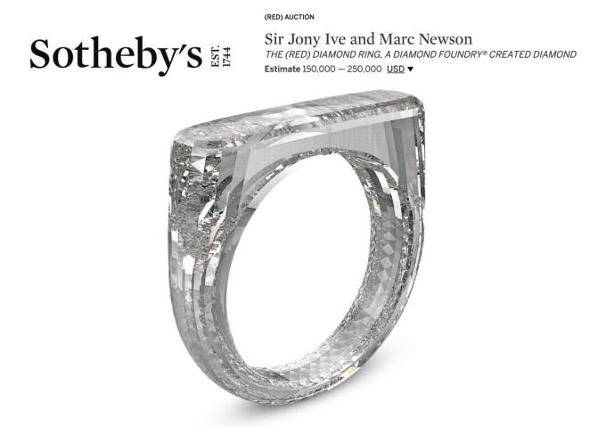 Sir Jony Ive and Marc Newson: THE (RED) DIAMOND RING, A DIAMOND FOUNDRY® CREATED DIAMOND