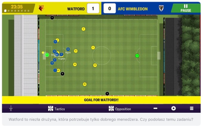 Zrzut ekranu z gry Football manager 2019 Mobile