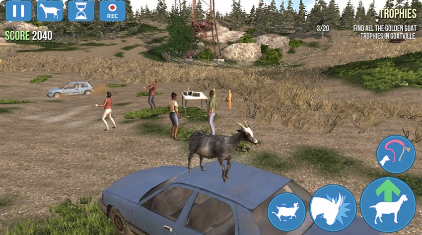 "Screen z gry ""Goat Simulator"""