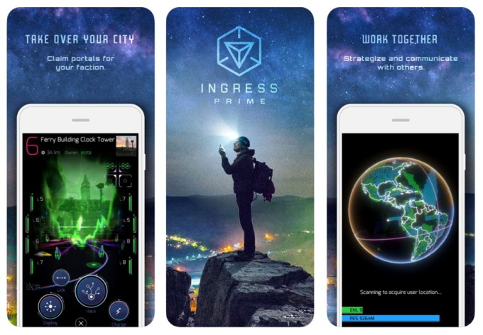 Ingress Prime (Niantic 2018 update) - screen z aplikacji