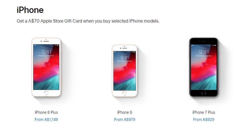Karta podarunkowa przy zakupie iPhone'a w sklepie Apple'a