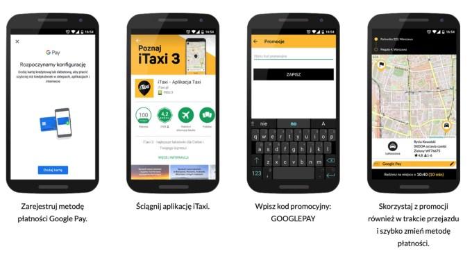 Instrukcja: Promocja iTaxi i Google Pay (2018)