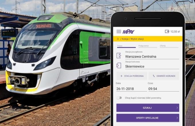 Zakup biletu na Koleje Mazowieckie przez aplikację mobilną mPay