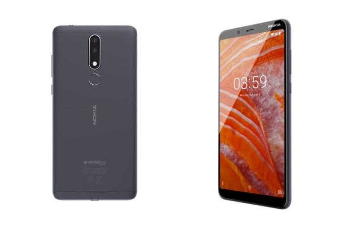 Nokia 3.1 Plus (przód i tył)