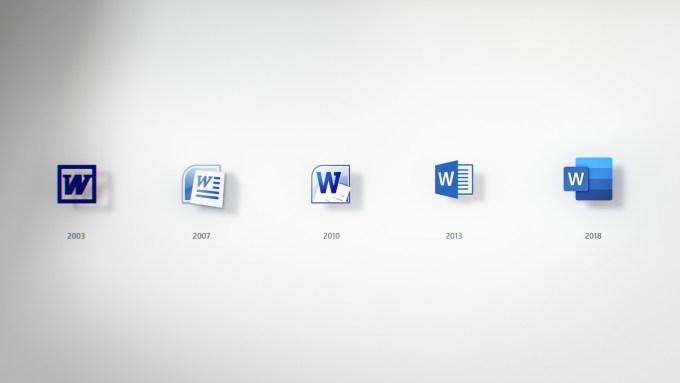 Jak zmieniała się ikona programu Word od 2003 do 2018 r.