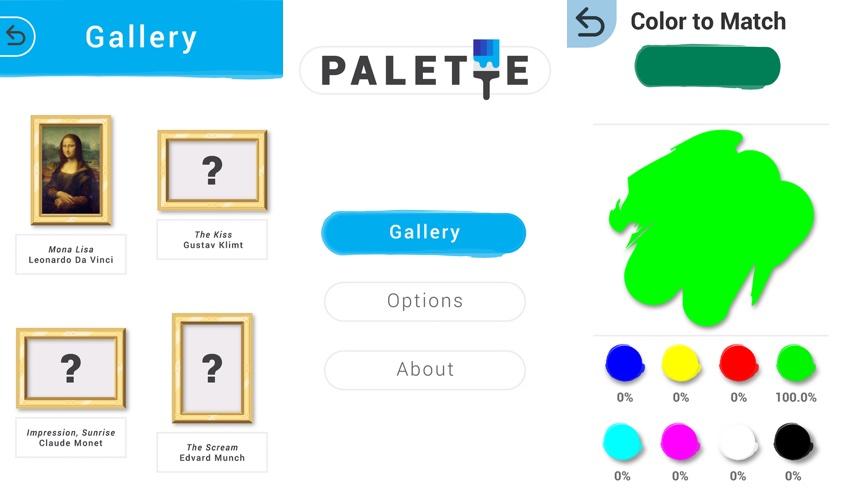 """Zrzuty ekranu z gry """"Palette"""""""