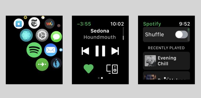 Aplikacja Spotify w wersji beta na watchOS (Apple Watch)