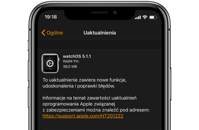 watchOS 5.1.1 update