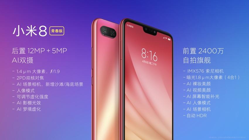 Specyfikacja Xiaomi Mi8 Lite