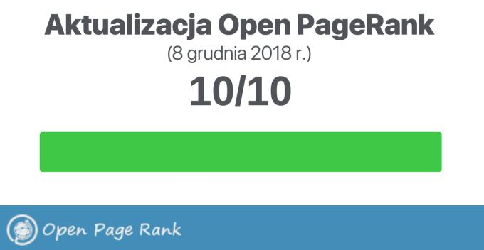 Open PageRank (grudzień 2018 r.)