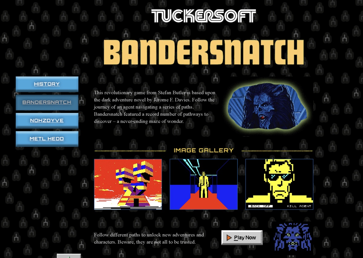 "Gra ""Bandersnatch"" od Tuckersoftu"