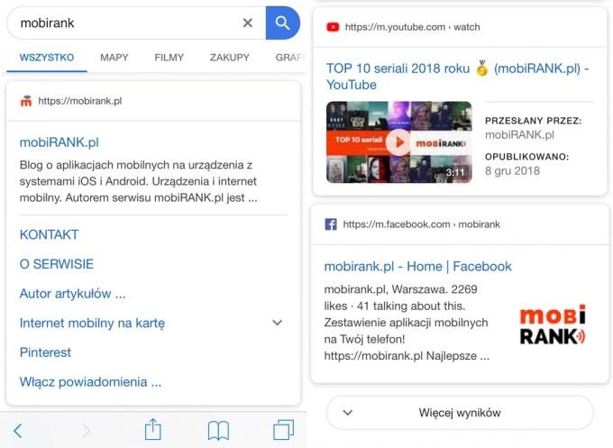 Nowe wygląd wyników wyszukiwania Google na urządzeniach mobilnych