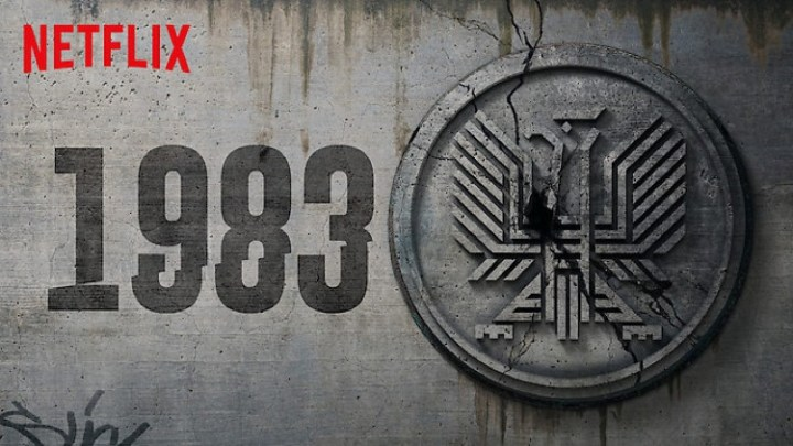 """Alternatywne godło ze świata serialu """"1983"""" (Netflix)"""