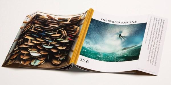 """Zdjęcie z okładki magazynu """"Surfer's Journal"""" zrobione iPhone'em"""