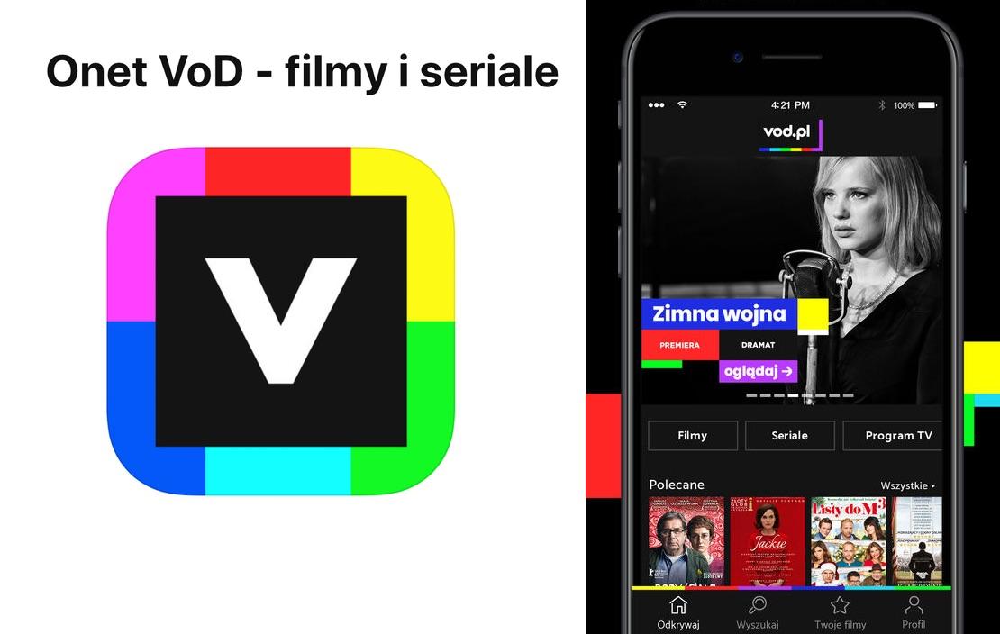 """Aplikacja mobilna """"Onet VoD - filmy i seriale"""""""