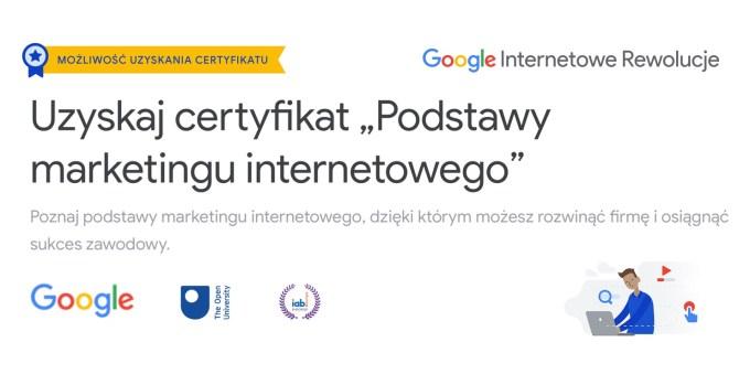 """Kurs z certyfikatem IAB i Google: """"Podstawy marketingu internetowego"""""""