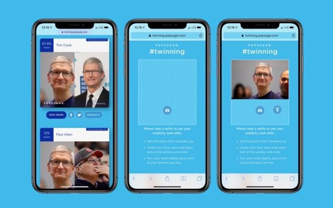 Aplikacja Twinning od Popsugar - zrzut ekranu