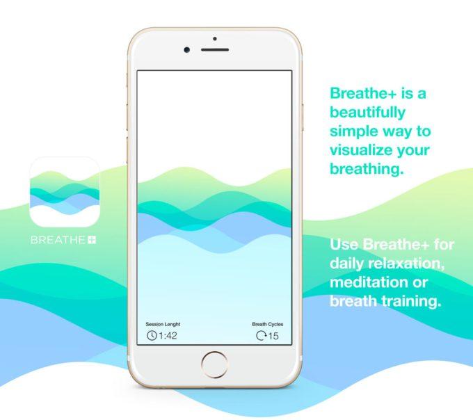 Aplikacja Breathe+ (screen)