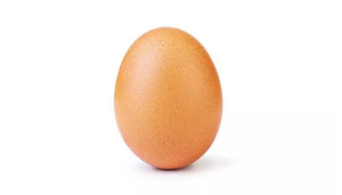 Zdjęcie jaja z rekordową liczbą polubień na Instagramie