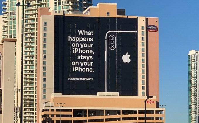 Apple promuje prywatność iPhone'a w Las Vegas przed CES 2019