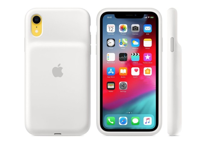 Etui Smart Battery Case do iPhone'a XR – białe