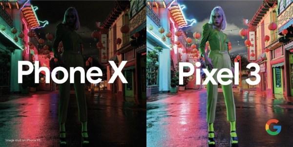 Google promuje Pixela 3 porównując go do iPhone'a XS
