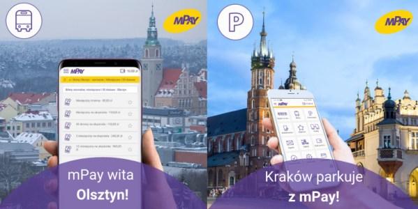 Nowości w płatnościach mobilnych mPay: Kraków, Olsztyn, Mazowsze
