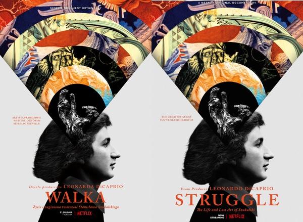"""Plakat filmu dokumentalnego Netflix Original pt.  """"Walka"""" (Struggle) o Szukalskim"""